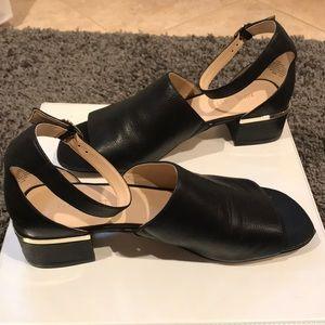 Nine West 1 inch heel open-toed dress sandals